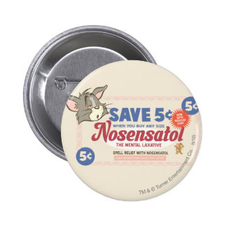 Tom And Jerry Nosensatol Coupon 6 Cm Round Badge