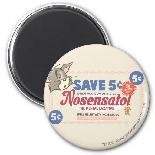 Tom And Jerry Nosensatol Coupon 6 Cm Round Magnet
