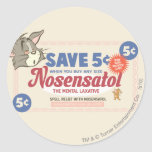 Tom And Jerry Nosensatol Coupon Round Sticker