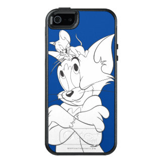 Tom and Jerry On Head OtterBox iPhone 5/5s/SE Case