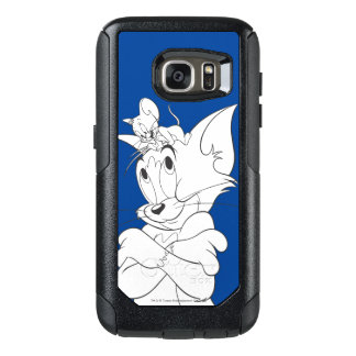 Tom and Jerry On Head OtterBox Samsung Galaxy S7 Case