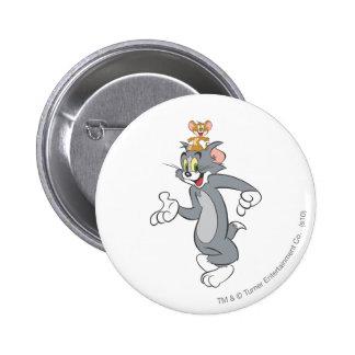 Tom and Jerry Pair 6 Cm Round Badge