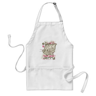 Tom and Jerry Pink and Green Apron