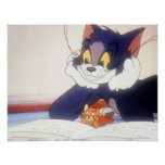 Tom And Jerry Read a Book Poster