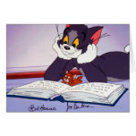 Tom And Jerry Reading Book Autographed Greeting Cards