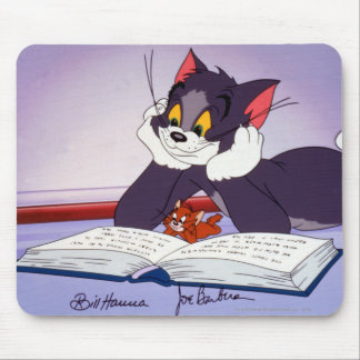 Tom And Jerry Reading Book Autographed Mouse Mat
