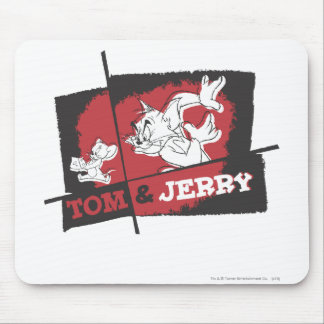 Tom and Jerry Red and Black Mouse Mat