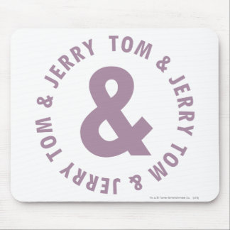 Tom and Jerry Round Logo 10 Mouse Mat
