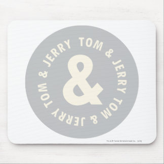 Tom and Jerry Round Logo 1 Mouse Mat