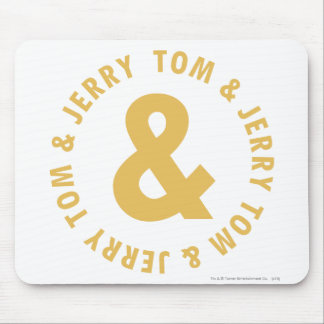 Tom and Jerry Round Logo 4 Mouse Pad