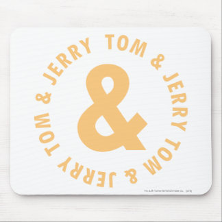 Tom and Jerry Round Logo 6 Mouse Pad