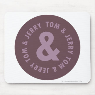 Tom and Jerry Round Logo 9 Mouse Pad