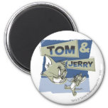 Tom and Jerry Scaredey Mouse Refrigerator Magnets