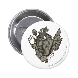 Tom and Jerry Skull 6 Cm Round Badge