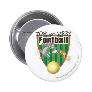 Tom and Jerry Soccer (Football) 6 6 Cm Round Badge
