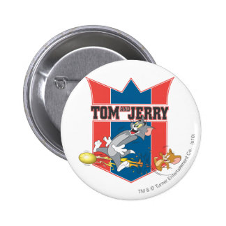 Tom and Jerry Soccer (Football) 7 6 Cm Round Badge