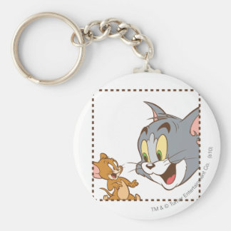 Tom and Jerry Stamp Basic Round Button Key Ring