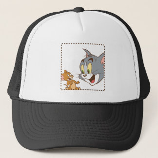 Tom and Jerry Stamp Trucker Hat