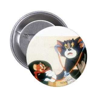 Tom And Jerry Stethescope 6 Cm Round Badge