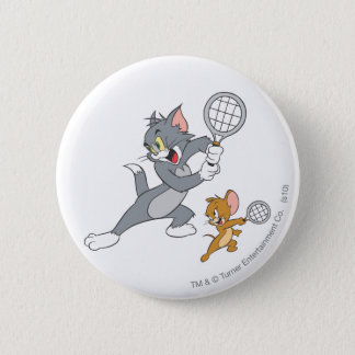 Tom and Jerry Tennis Stars 1 6 Cm Round Badge