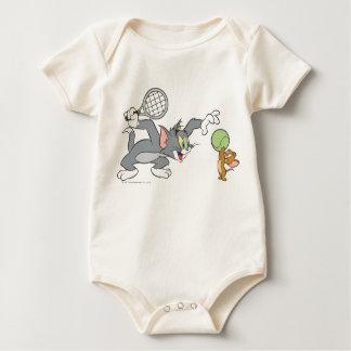Tom and Jerry Tennis Stars 2 Baby Bodysuit