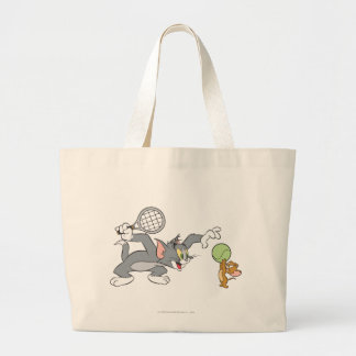 Tom and Jerry Tennis Stars 2 Large Tote Bag