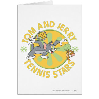 Tom and Jerry Tennis Stars 5 Card