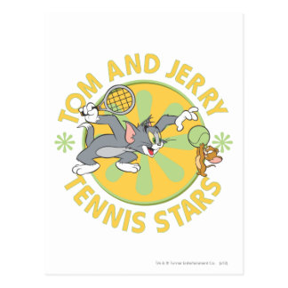 Tom and Jerry Tennis Stars 5 Postcard