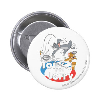 Tom and Jerry Tennis Stars 7 6 Cm Round Badge