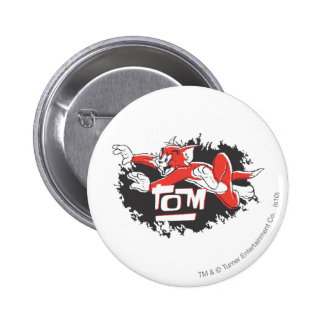 Tom Black and Red Logo 6 Cm Round Badge