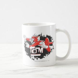 Tom Black and Red Logo Coffee Mug