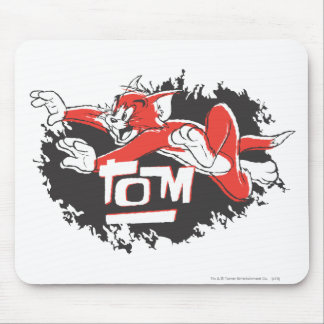 Tom Black and Red Logo Mousepad