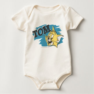 Tom Blue and Yellow Logo Baby Bodysuit