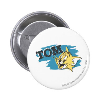 Tom Blue and Yellow Logo 6 Cm Round Badge