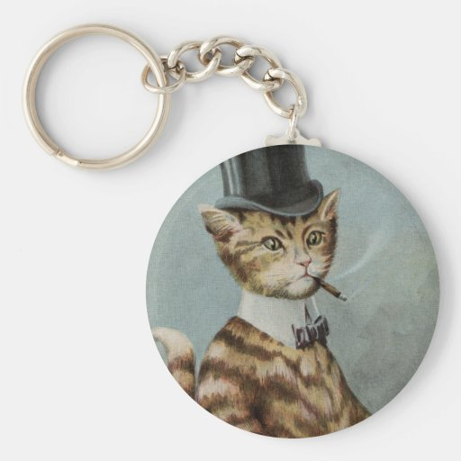 Tom Cat Dressed to the Nines Basic Round Button Key Ring