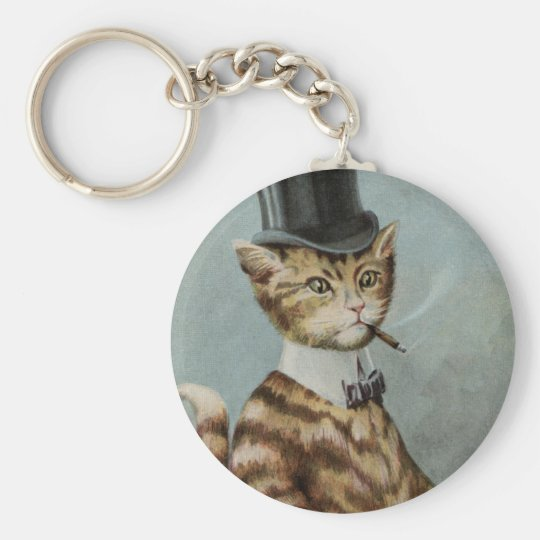 Tom Cat Dressed to the Nines Key Ring