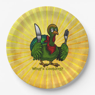 Tom Foolery Funny Turkey in Sunshine Paper Plate