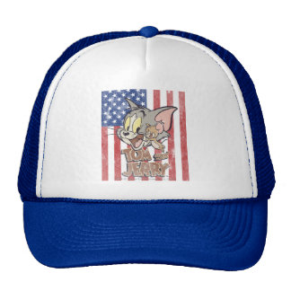 Tom & Jerry With US Flag Cap