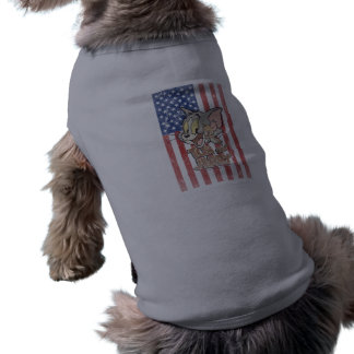 Tom & Jerry With US Flag Shirt