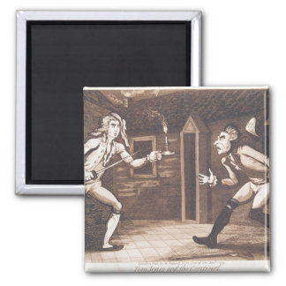 Tom Jones and the Centinel, 1799 Square Magnet