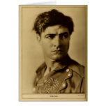 Tom Mix 1926 rugged actor portrait silent films Greeting Cards
