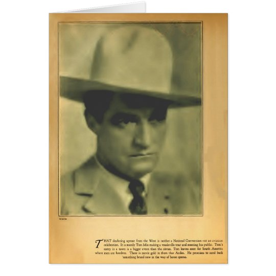 Tom Mix 1928 vintage portrait card