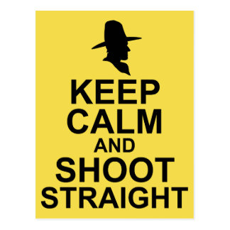 Tom Mix Keep Calm and Shoot Straight Postcard