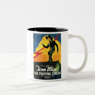 Tom Mix The Fighting Streak 1922 movie poster Two-Tone Mug