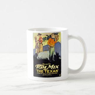 Tom Mix The Texan 1920 vintage movie poster Basic White Mug