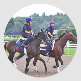 Tom Morely Workouts at Saratoga Round Stickers