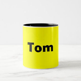 Tom-Name Style-Mug Two-Tone Coffee Mug