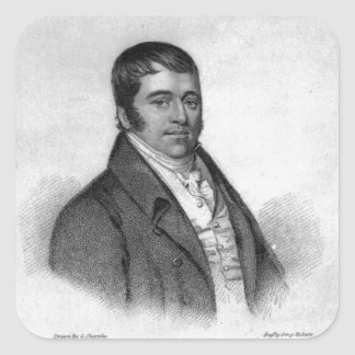 Tom Oliver, engraved by Percy Roberts Square Sticker