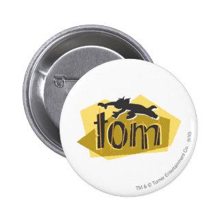 Tom Silhouette Logo 6 Cm Round Badge