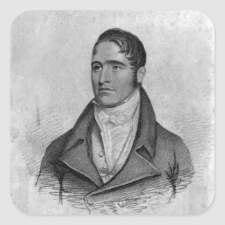 Tom Spring, engraved by Percy Roberts Square Sticker